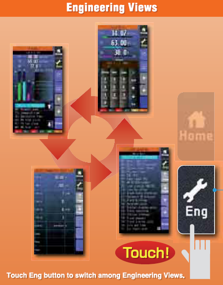 PSC intuitive touch panel