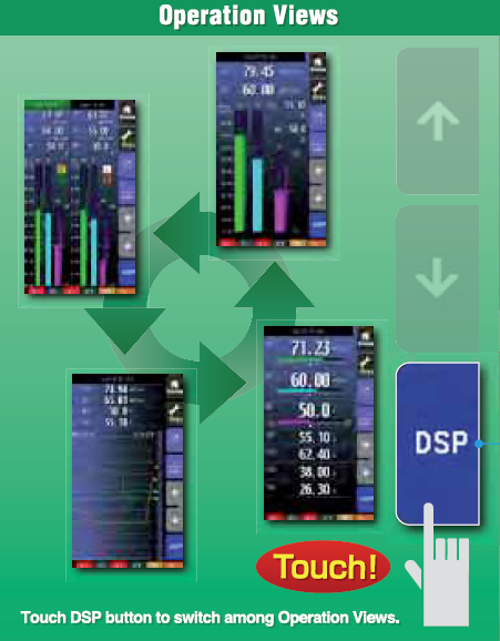 PSC intuitive touch panel operation views